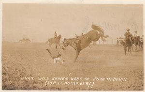 RP: RODEO , BILLINGS , Montana ,  What WILL JAMES done to John Hedman , 193...