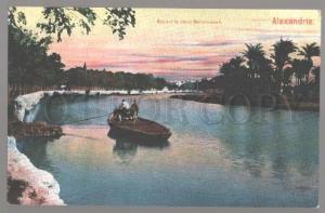 099286 EGYPT Alexandrie Bbac sur le canal Mahmoudieh Vintage