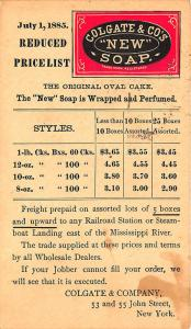New York NY Colgate & Co. New Soap Color Illustrated 1885 Postal Card