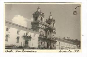RP  Quito, San Francisco, Ecuador, S.A., 30-40s