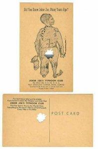 pc3454 postcard Joker Joe's Cut Out Postcard mint