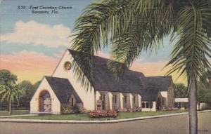 Florida Sarasota First Christian Church 1954