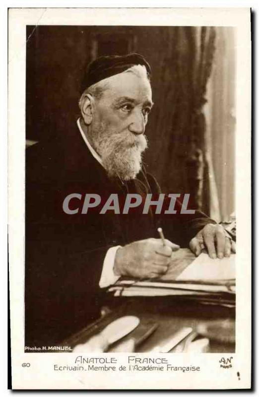 Old Postcard writer Anatole France Member of French & # 39Academie