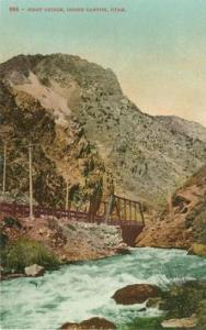 First Bridge, Ogden Canyon, Utah early 1900s unused Postcard