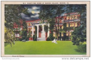 Night Time Scene Of Marion College Marion Virginia