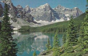 Ad for Byron Harmon Photos on postcard , Moraine Lake , Alberta , Canada , 50...
