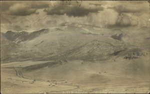 Pikes Peak From Cripple Creek CO c1910 Rewal Photo Postcard xst