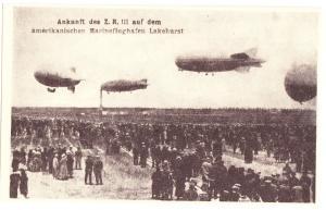 Ankunft des Z. R. III Zeppelin unused NEW REPRODUCTION