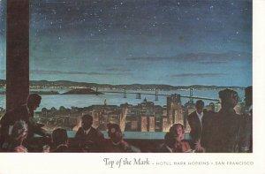 Postcard Top of the Mark Hotel Mark Hopkins San Francisco California
