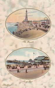 BLACKPOOL , Uk , 1910 ; Parade & North Pier ; TUCK