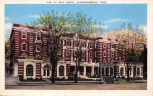 MURFREESBORO TN~JAMES K POLK HOTEL ON HWY 41-BROADWAY OF AMERICAN POSTCARD 1920s