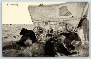 Wells Spring Oregon Trail~Ezra Meeker Writes Journal~Nooning~Covered Wagon~1906