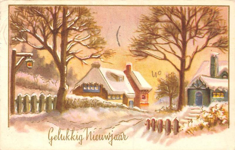 Gelukkig Nieuwjaar! Happy New Year! Winter Rural House Church 1961