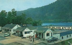 Postcard Edgewater Steal House and Motel Gauley West Virginia