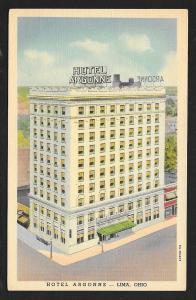 Argonne Hotel Lima OH unused c1948