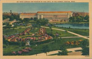 Rose Garden & Museum of Fine Arts in Fenway Boston MA Massachusetts pm 1949