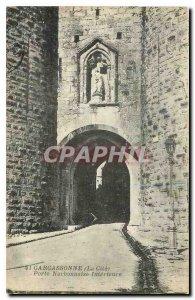 Old Postcard Carcasson La Cite Narbonne Gate Interieure