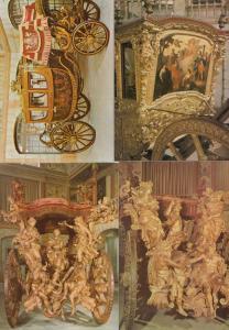 Lisboa Portugal Coach Museum Queen Maria Ana Marquis Of Fontes 4x Postcard s