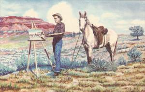 Painting The West by Cowboy Artist L H Dude Larsen