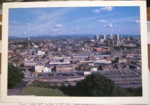 England Stockport Cheshire Panoramic view showing Town Hall - unposted