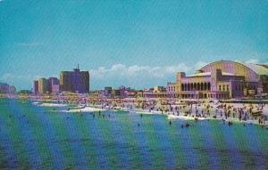 New Jersey Atlantic City Panoramic Views Showing Convention Hall and Beach Fr...