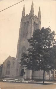F5/ Mishawaka Indiana Real Photo RPPC Postcard 1912 Eberhardt Memorial Church