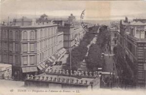 TUNIS , 00-10s ; Perspective de l'Avenue de France