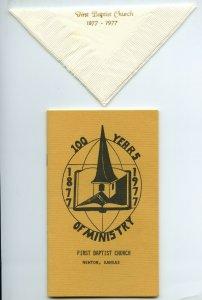 100 Years Of Ministry First Baptist Church Newton Kansas Vintage Booklet Napkin