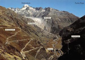 Switzerland Grimsel Furka, Belvedere Galenstock Gletsch Furkastrasse