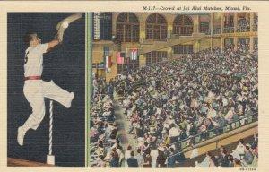 MIAMI , Florida , 30-40s ; Crowd at Jai Alai Matches