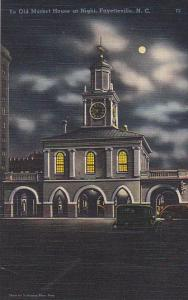North Carolina Fayetteville Ye Old Market House At Night