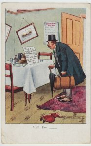Social History; Women's Rights, Gone To Meeting PPC By CW Faulkner, Suffrage