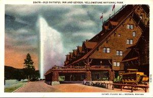 Yellowstone National Park Old Faithful Inn and Geyser Curteich