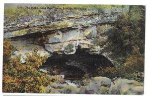 WY Lander The Sinks Intake Popo Agie River Popoagie Wyoming Vtg Linen Postcard