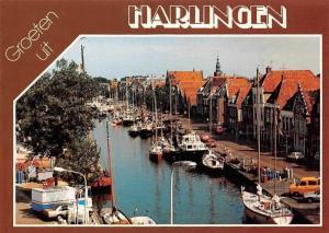 Netherlands Groeten uit Harlingen Hafen Schiff Harbour Boats Bateaux Port