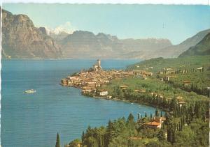 Italy, Lago di Garda, Malcesine, Panorama, 1979 used Postcard