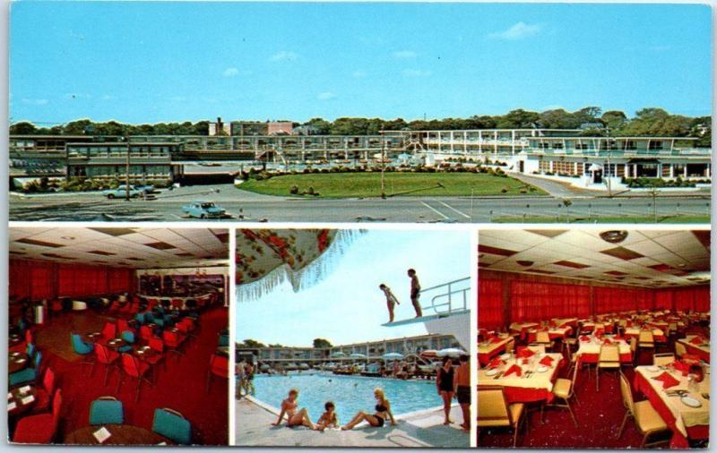 Hyannis Cape Cod MA Postcard HYANNIS HARBORVIEW MOTEL Girls