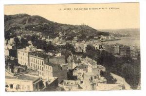 ALGER - Vue sur Bab-el-Oued et N.-D. d'Afrique, PU-1925
