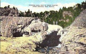 Soda Dam Jemez Canyon Jemez Springs NM Vintage Postcard Standard View Card