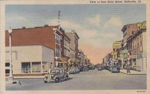 Illinois Belleville View Of East Main Street 1947