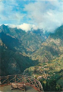 Portugal Postcard Madeira View from the Nuns Belvedere mountain scenery