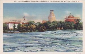 New York Niagara Falls American Rapids Above The Falls Looking From Goat Island