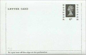 Entier Postal Stationery Postal Britain Great Britain 4 of Machin