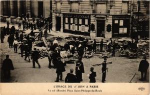 CPA L'ORAGE DU 15 JUIN a PARIS (8e) Place Saint-Ph-du-Roule (176174)