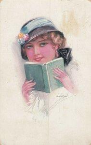 USABOL ; Woman reading a book, Version-2 , 1928