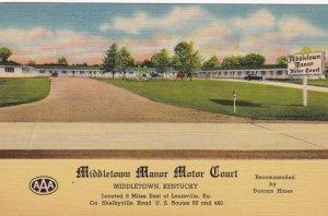 MIDDLETOWN, Kentucky , 1953 ; Middletown Manor Motor Court