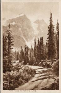 Road to Moraine Lake Alberta AB Unused Byron Harmon Vintage Postcard F1
