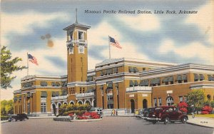 Missouri Pacific Railroad Station Little Rock, Ark, USA Arkansas Train 1949