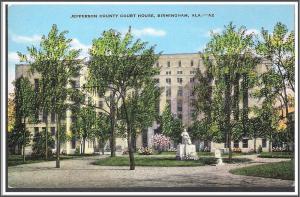 Alabama, Birmingham Court House Postcard