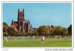 Crickett Ground, Worchester Cathedral, UK 50s
